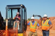 """Toby Keith Foundation - Photos Chyann sitting in what she called """"The Dragon"""" at the OK Kids Korral building site..."""