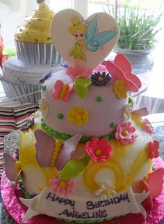 Fairy Birthday Cake and Cupcake Decorating Ideas