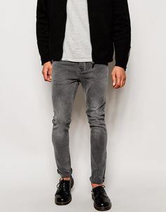 """Jeans by Minimum Clothing Stretch denim Concealed zip fly Five pocket styling Slim fit - cut closely to the body Machine wash 98% Cotton, 2% Elastane Our model wears a 32""""/81cm regular and is 185.5cm/6'1"""" tall"""