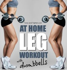 Quick at-home workout that combines strength training with plyometrics for your best legs ever! | Tone-and-Tighten.com #WeightRoutines