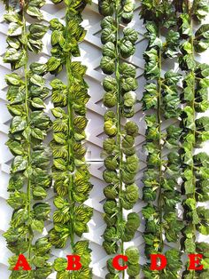 Artificial Ivy Garland Fake Hanging Plants Vine Fake Foliage Green Ivy Leaf Garland 24 Strands 82 For DIY Door Wreath Outdoor Wedding Decor The last photo is from one our clients :)  Item Specification:  Each Strand Length: 210cm/ 82 inches   Generally it takes 9-20 days to US, 10-30 days to Canada, United Kingdom, Austria, France, Germany. And other countries may take longer time from 30-50 days, Please let us know if you need expedited shipping.  Please contact us if theres any questio...