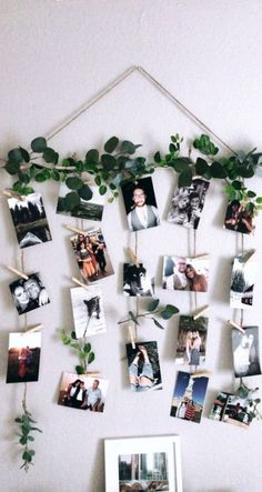 Quick and simple! DIY pictures and clothespin wall decor - Blumen ideen - Quick and simple! DIY pictures and clothespin wall decor – Blumen ideen Quick and simple! DIY pictures and clothespin wall decor Dorm Room Walls, Room Wall Decor, Diy Wall Decor, Diy Home Decor, Bedroom Wall, Bedroom Decor, Diy Wand, Diy Photo, Fake Ivy