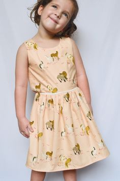 crafterhours: A Pony Birthday Dress {sewing inspiration for Miss Eliza}