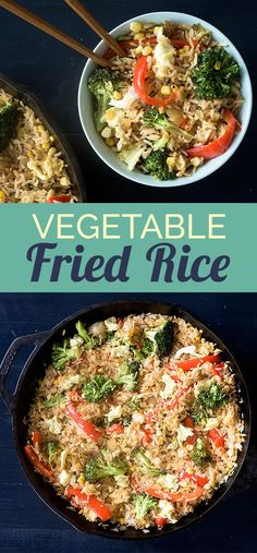 On WEDNESDAY, dig into a heaping bowl of vegetable fried rice. | 5 Make-Ahead Dinners That Will Make You A Champion At Life