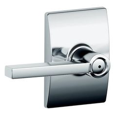 The Schlage Latitude Bright Chrome Privacy Door Lever with Century Trim is perfect for interior doors where locking is needed, such as bedroom and bathroom doors. The Latitude Lever offers a crisp perspective