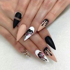 nails, kylie jenner, and black Bild
