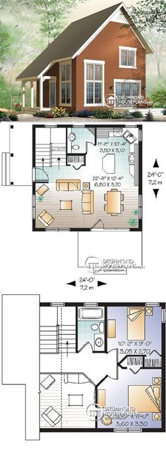 Drummond House Plans #W3946 Willowgate :: 1050 sq. ft.