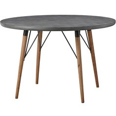Lene+Bjerre+Lynn+Dining+Table+-+Dark+Grey+-+Dark+grey+round+iron+dining+table+with+pine+table+legs. Channel+chic+contemporary+style+into+your+interior+space+with+the+Lene+Bjerre+Lynn+Table+75cm. Circular+in+shape,+Lynn+is+made+from+a+stunning+combination+of+metal+and+wood. Understated+with+lasting+appeal,+the+iron+panel+table+top+is+complemented+effortlessly+with+angular+pine+table+legs+and+iron+rod+detailing,+completing+the+look+in+style. Accent+with+designer+dining+chairs+from+the+Hous...