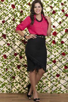 Conjunto Bella Herança Rosa Premium 6239 é na Saia Bella, Compre Moda Evangélica Online!