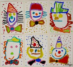 Risultati immagini per carnaval knutselen bovenbouw - Carnaval - Circus Theme Crafts, Circus Activities, Carnival Crafts, Drawing Activities, Circus Art, Craft Activities For Kids, Preschool Crafts, Theme Carnaval, Le Clown
