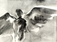 Angel Abstract Series .. 107... Original by Kathy Morton Stanion