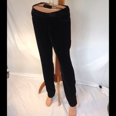 NWOT Silk and rayon velvet pants NWOT draping black velvet jeans-style pants.  Inseam 31. Satin finish back on fabric. Magaschoni Pants Straight Leg