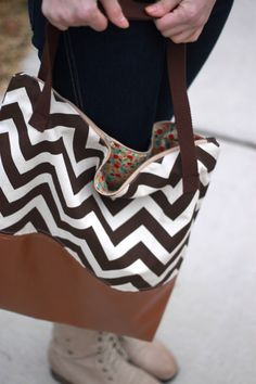 How to sew a leather-bottom bag | see kate sew
