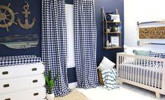 Navy Blue Nautical Nursery for a Baby Boy