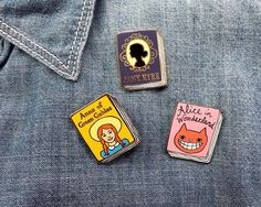 Book Pin: Anne of Green Gables Book Labels, Curiosity Shop, Music Jewelry, Cool Gifts For Women, Jane Eyre, Anne Of Green Gables, Pin And Patches, Lapel Pins, Book Worms