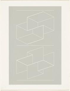 Josef Albers. WEG VIII from White Embossings on Gray (WEG). 1971