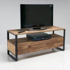 TV meubel, massief eik en staal, Hiba La Redoute Interieurs - TV-meubel