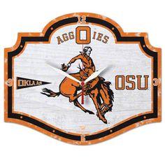 Oklahoma State Cowboys Vintage High Definition Clock