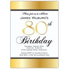Free Printable Invitations For 80th Birthday Party Party