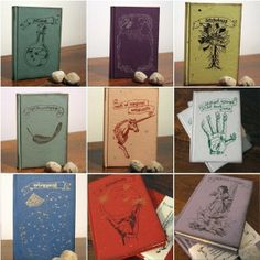 Harry Potter inspired blank journals. Seriously cool.