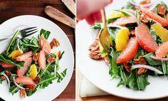 Salată de PĂPĂDIE cu GREPFRUT și NUCI – hrană pentru FICAT | La Taifas