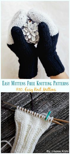 Easy Knit Mittens Knitting Free Pattern - Easy Free Patterns Quick & Easy Mittens Free Knitting Patterns: Classical Mittens, Traditional Mitten gloves, simple knitting mittens, mitts gift all sizes, kids and adults Knitting Terms, Knitting Needles, Knitting Patterns Free, Free Knitting, Simple Knitting, Cable Knitting, Knitting Designs, Knitting Yarn, Knit Patterns