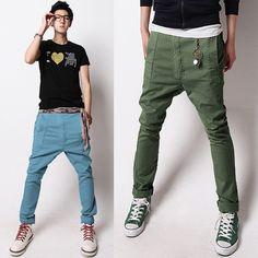 Men's cotton casual skinny pants. Fashion harem trousers Slim fit  Aliexpress.c...
