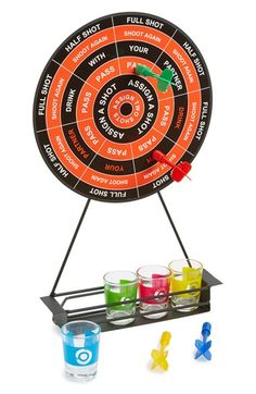 Free shipping and returns on Barbuzzo 'Drinking Darts' Kit at Nordstrom.com. Will it be a half shot, a full shot or…assign two shots!? Play as couples, switch up teams or it's everyone for themselves in this magnetic-dart, shot-inducing drinking game that is sure to become more fun as the night goes on. Disclaimer: no walls were harmed in the shooting of these darts.