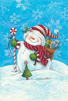 christmas paintings 40 Beautiful Christmas Painting Ideas to Try This Season - Bored Art Christmas Graphics, Christmas Clipart, Vintage Christmas Cards, Christmas Images, Christmas Snowman, Winter Christmas, Christmas Crafts, Christmas Decorations, Beautiful Christmas Pictures