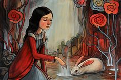 "Solo show preview...""Where Things Grow""  acrylic on panel  24"" x 16""      by verpabunny, via Flickr"