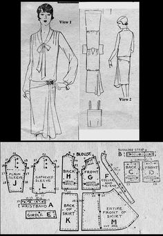 1927 Day Dress http://copa.apps.uri.edu/sample_garment.php?patID=54704