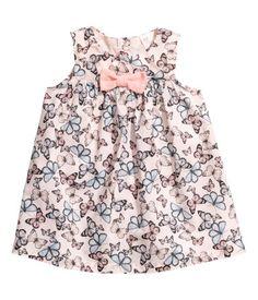 Cotton Dress | Light pink/butterflies | Kids | H&M US