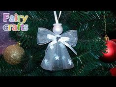 Best 11 Easy and cheap Christmas crafts for recycling Christmas Angel Decorations, Christmas Crafts To Make, Christmas Origami, Felt Christmas Ornaments, Christmas Tree Toppers, Christmas Angels, Christmas Projects, Holiday Crafts, Christmas Poinsettia
