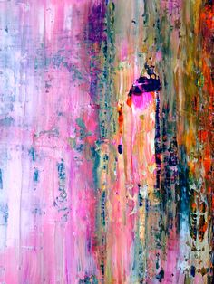 Pink Abstract, Abstract Flowers, Abstract Print, Abstract Paintings, Wine Painting, Painting & Drawing, Funky Art, Summer Landscape, Collage