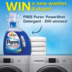 Enter the @purex #powershot Coming Soon #sweepstakes and #win a washer & dryer set! http://go.purex.com/PDvlL https://www.purex.com/promotions/win/