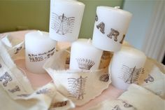 Have you tried stamping candles, it's inexpensive and so easy!      This certainly is not a new technique, it has been around forever   Yo...