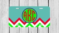 Personalized Monogrammed Chevron Turqoise Light by TopCraftCase