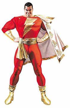 Captain Marvel, Billy Batson ~ DC Superheroes Posters ~ Alex Ross