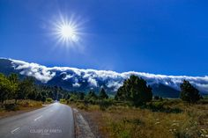 La Palma road to misty mountains