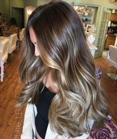 87 unique ombre hair color ideas to rock in 2018 - Hairstyles Trends Brown Hair Balayage, Brown Blonde Hair, Hair Color Balayage, Blonde Balayage, Brunette Hair, Medium Blonde, Medium Brown, Dark Blonde, Brunette Color
