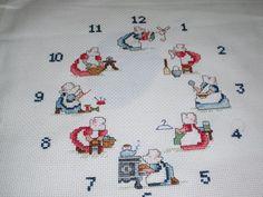 punto de cruz reloj holandesitas