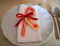 Fiore di maggio: Dove mi siedo a tavola?? segnaposto natalizio bastoncino di zucchero