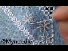 Hardanger Embroidery, Lesson 5, Finishing Kloster Block Section - YouTube