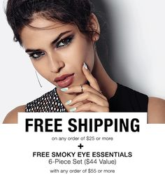 Free shipping with $25 order at https://mmcquain.avonrepresentative.com/, plus  free Smoky Eye Essentials with $55 order through 10/29/16! Use code SMOKY!
