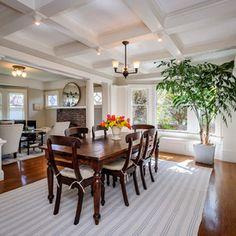Craftsman Dining Room by Dennis Mayer, Photographer (Lighter dining room. Light blue.)