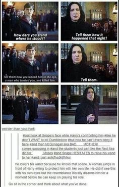 He lowers his wand because he knows that scene.