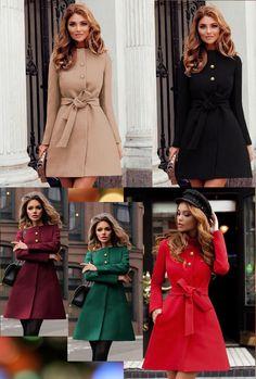 Palton dame din stofa evazat Dulcis Dresses With Sleeves, My Style, Long Sleeve, Fashion, Moda, Full Sleeves, La Mode, Gowns With Sleeves, Fasion