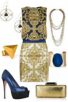 Glamourous outfit - love the printed dress! #style #fashion #outfit