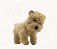 Needle Felted Dog Cairn Terrier Wheaten Soft by WoolSculptures, $160.00