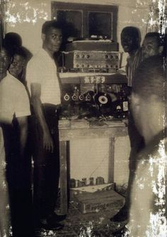 KING TUBBY, Jamaican sound engineer in his home.
